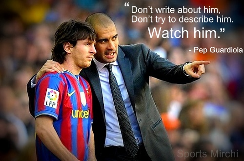 Pep Guardiola quotes on Messi.