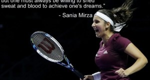 "Sania Mirza wants Indian Girls to ""Dream Big"" and willing to achieve them"