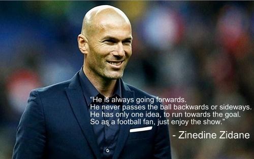 Zinedine Zidane quotes on Messi
