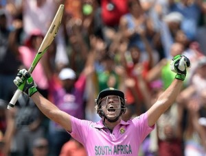 AB De Villiers only batsman to score ODI hundred twice after coming into bat after 30 overs.