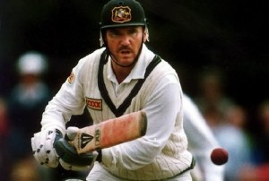 Allan Border played 153 test matches successively.