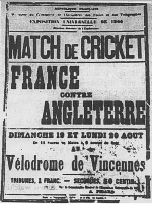 Cricket sport was played in 1896 and 1900 Olympics.