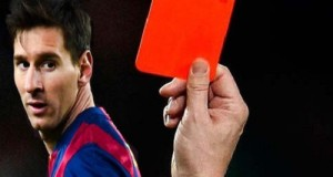 When Lionel Messi Received Red Card