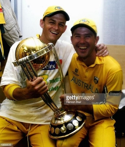 Ricky Ponting and Adam Gilchrist are only cricketers who won world cups on 3 occasions.