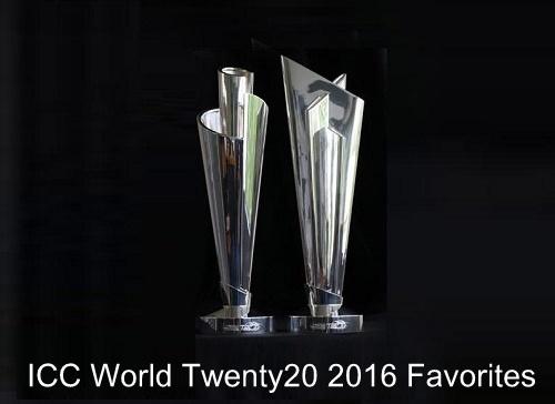 Top Favorite teams to win ICC World Twenty20 2016.