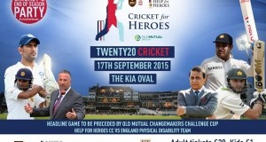 Help for Heroes XI vs Rest of The World XI: Charity T20 Match