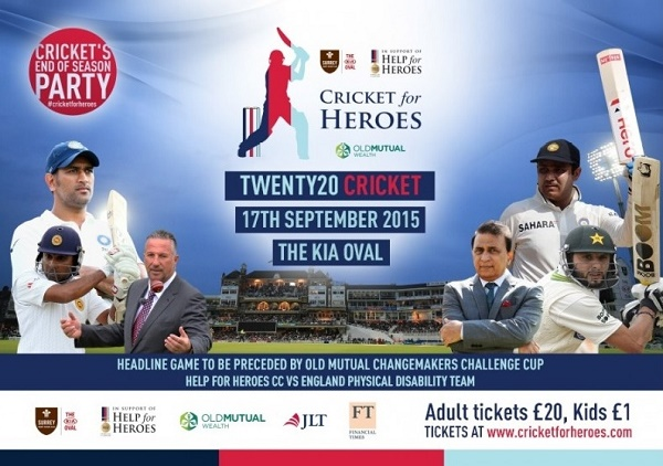 Help for Heroes XI vs Rest of The World XI Charity T20 Match.