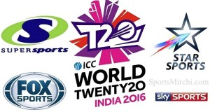 ICC T20 World Cup 2016 Live Telecast, TV Channels List