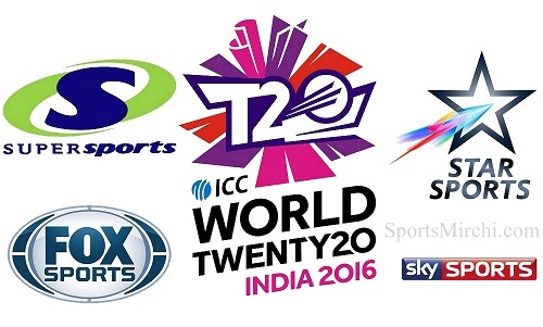 ICC T20 World Cup 2016 Live Telecast, TV Channels List.