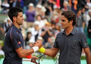 Novak Djokovic vs Roger Federer rivalry.