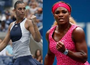 Serena Williams vs Flavia Pennetta.