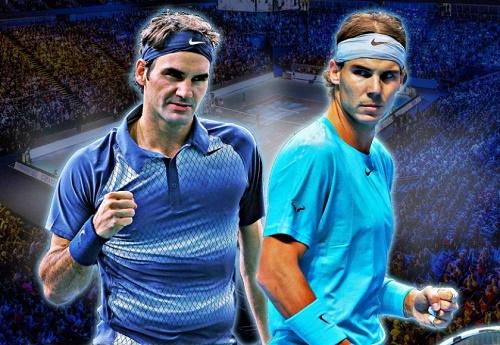 Roger Federer vs Rafael Nadal rivalry.