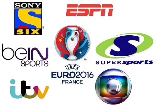 UEFA Euro 2016 Broadcasters, TV Channels List.