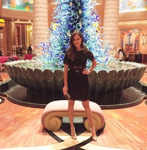 Ana Ivanovic in Dubai show.