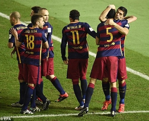 Barcelona beat River Plate to win 3rd FIFA Club World Cup.