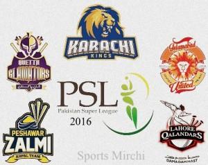 HBL PSL 2016 All Teams Squad, players list.