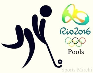 Hockey Pools revealed for Rio 2016 Olympic Games.
