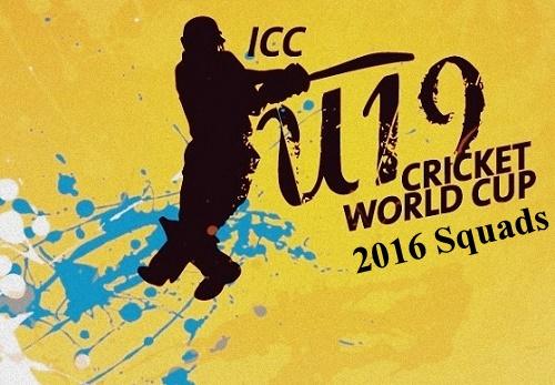 ICC Under-19 Cricket World Cup 2016 Squads.