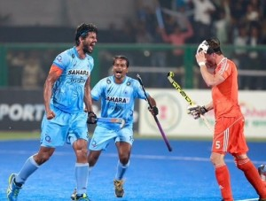 India won bronze medal at FIH hockey world league final 2015.