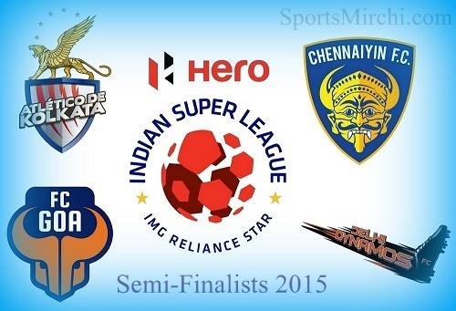 Indian Super League 2015 Semi-Final Line-ups, Schedule.