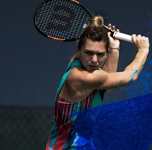 Simona Halep outfit for Australian Open 2016.
