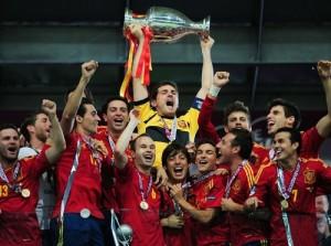 Spain won 2012 Euro Cup.