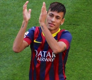 Neymar Jr in FC Barcelona Jersey