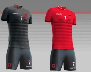 Albania official kit for European cup 2016.