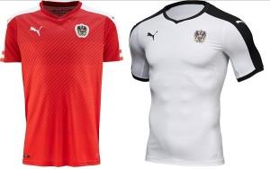 Austria kit for UEFA Euro cup 2016.