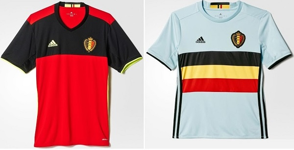 Belgium official outfit for 2016 Euro cup.