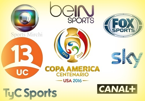Copa America 2016 TV listings, Live Streaming, Broadcast.