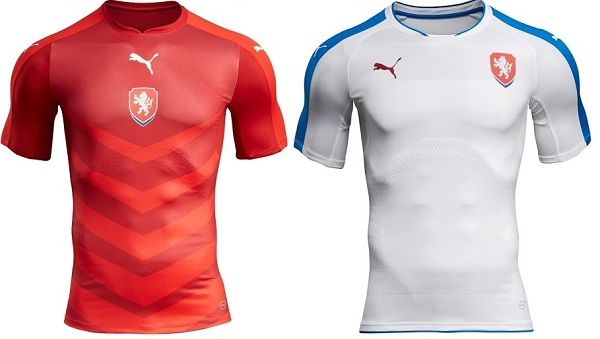 Czech Republic official kit for 2016 UEFA Euro Cup.
