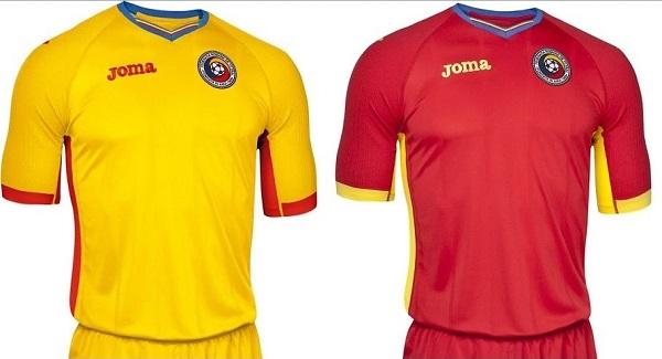 Romania football team kit for Euro 2016.