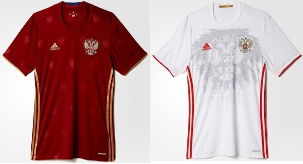 Russia football team t-shirt for 2016 Euro.