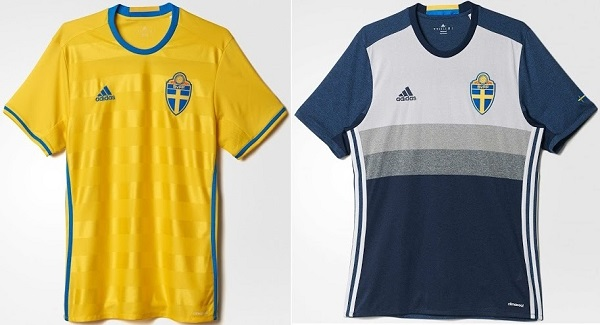 Sweden kit for UEFA Euro Cup 2016.