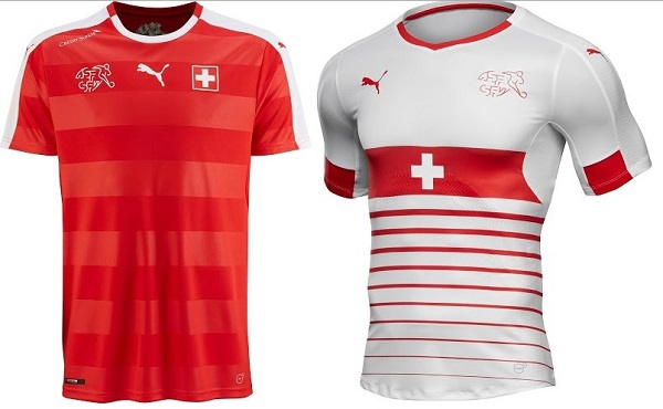 Switzerland official t-shirt for 2016 Euro Cup.
