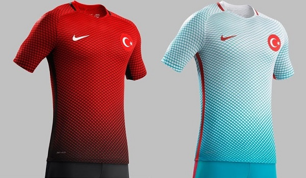 Turkey soccer team kit for Euro Cup 2016.