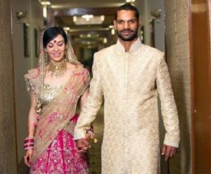Ayesha Mukherjee and Shikhar Dhawan
