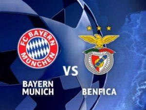 Benfica vs Bayern München live streaming