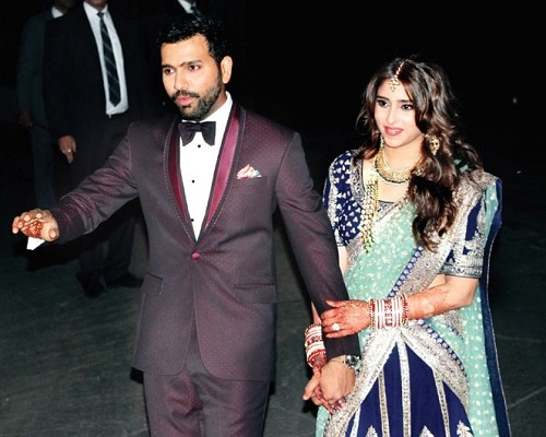 Ritika Sajdeh and Rohit Sharma.