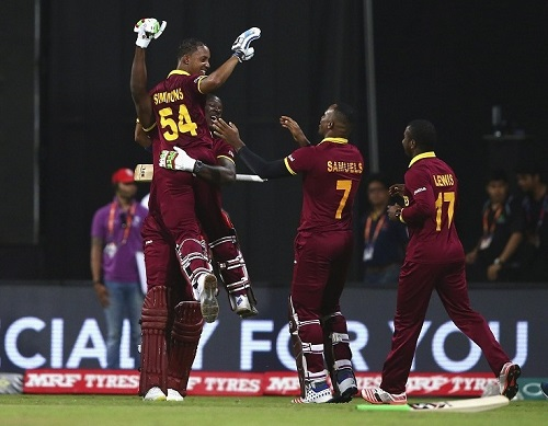 West Indies beat India to play England in wt20 2016 final.