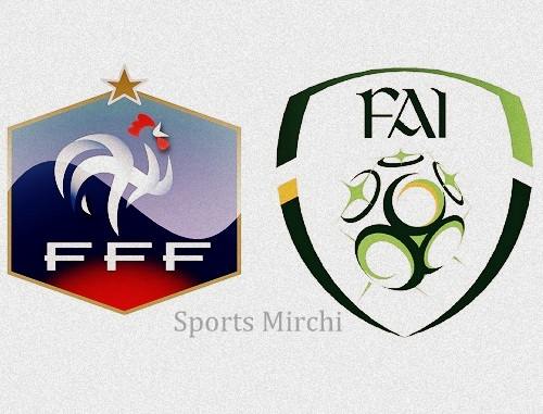 France vs Republic of Ireland Head to Head.