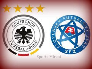 Germany vs Slovakia Head to Head.