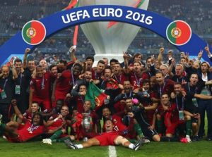 Portugal beat France to win Euro 2016.