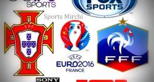 Portugal vs France 2016 Euro Final Live Telecast, TV Channels
