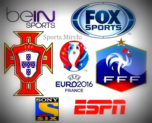 Portugal vs France 2016 Euro Final Live Telecast, TV Channels.
