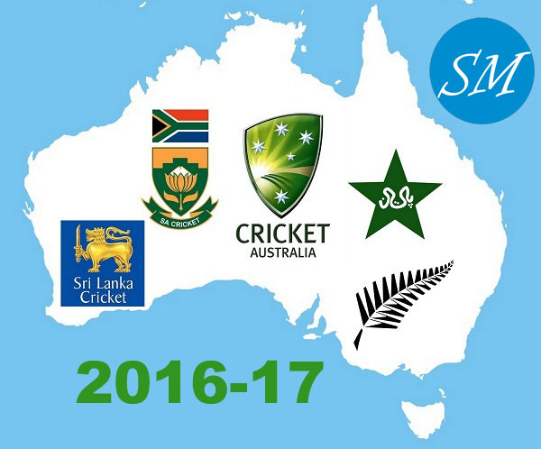Cricket Australia Team Home Matches Schedule 2016-17