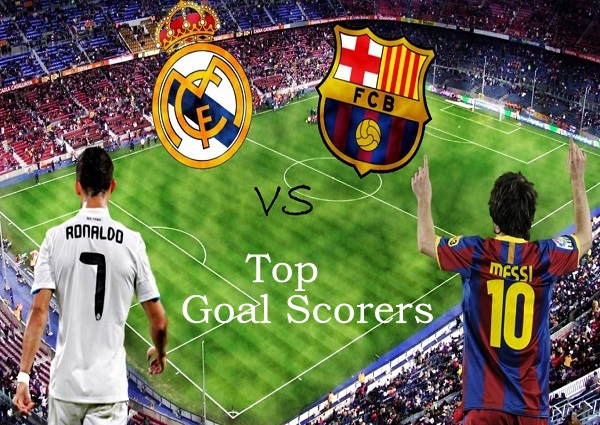 Barcelona vs Real Madrid top goal scorers list