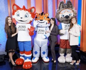 FIFA world cup 2018 mascot candidates with designers