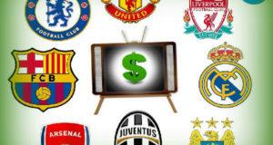 Top 20 list of Football Clubs TV earnings 2015-16